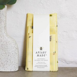 Apiary Made Illustrated : Assorted Three Pack Beeswax Wraps