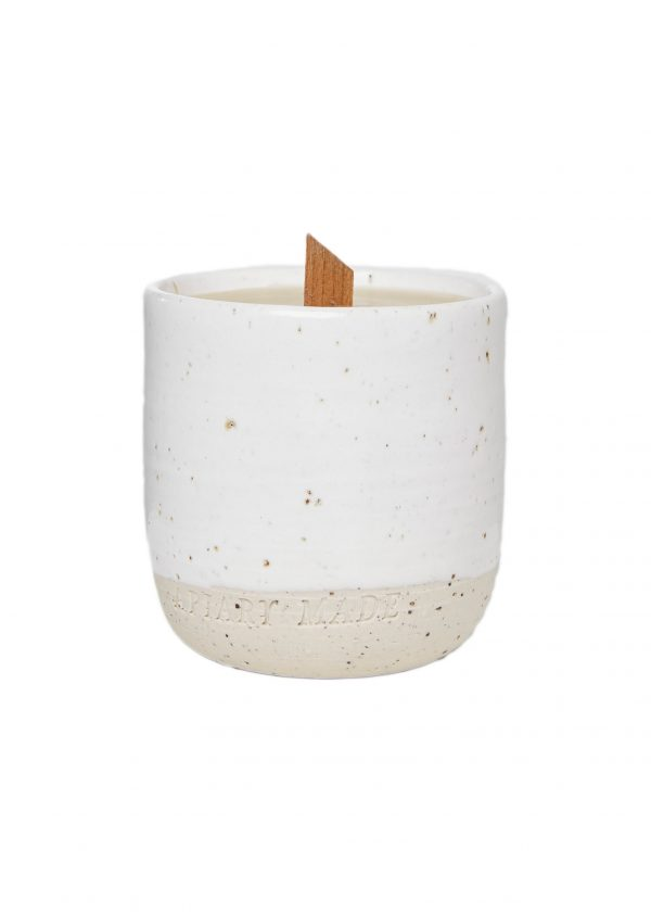 candle vessel with beeswax