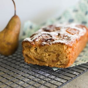 honey pear tea cake