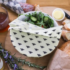 salad bowl covered beeswax wrap
