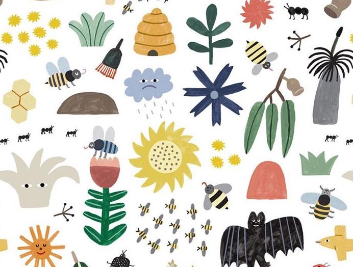 various bees on design